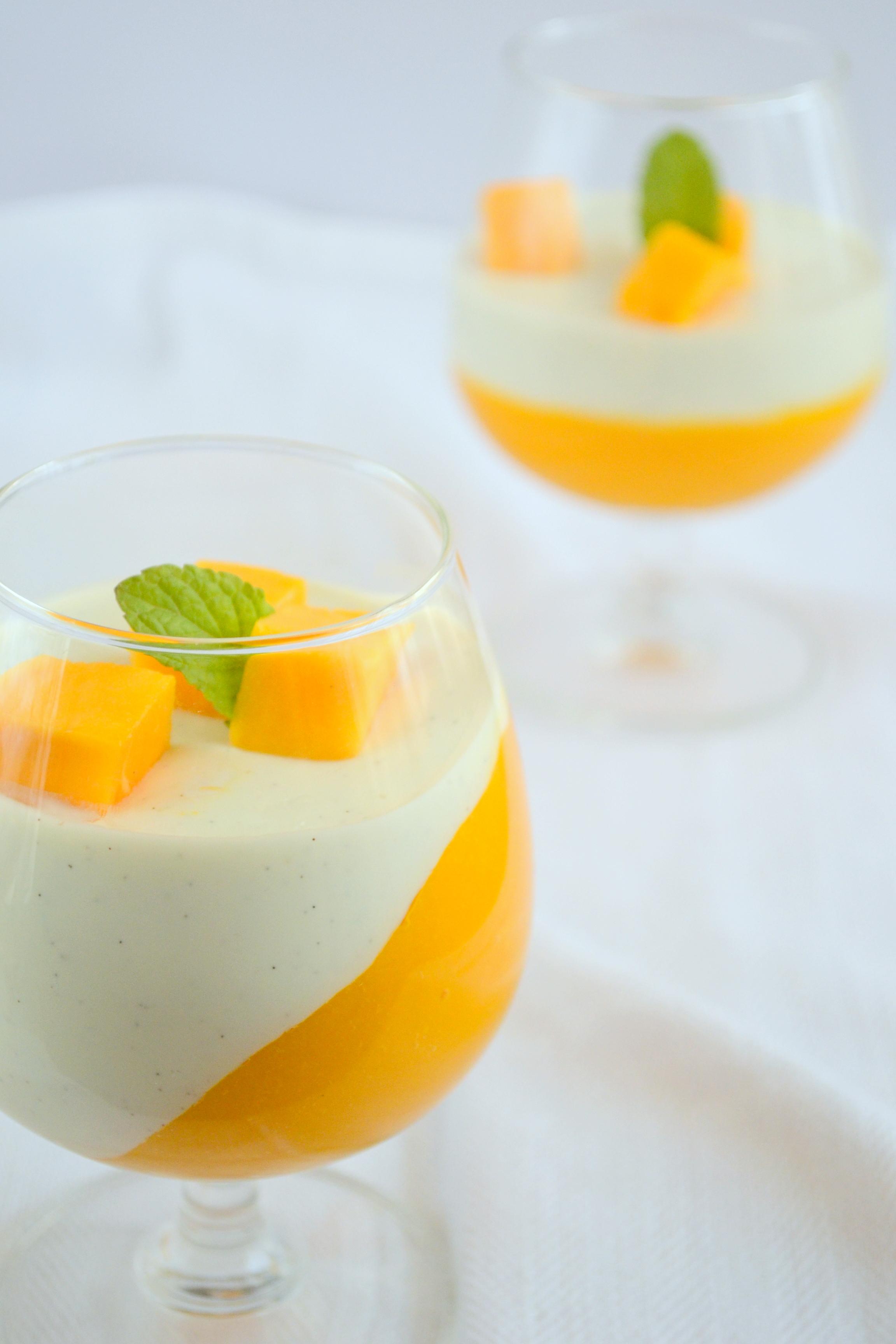 Vanilla Bean Panna Cotta With Mango Coulis - The White Ramekins