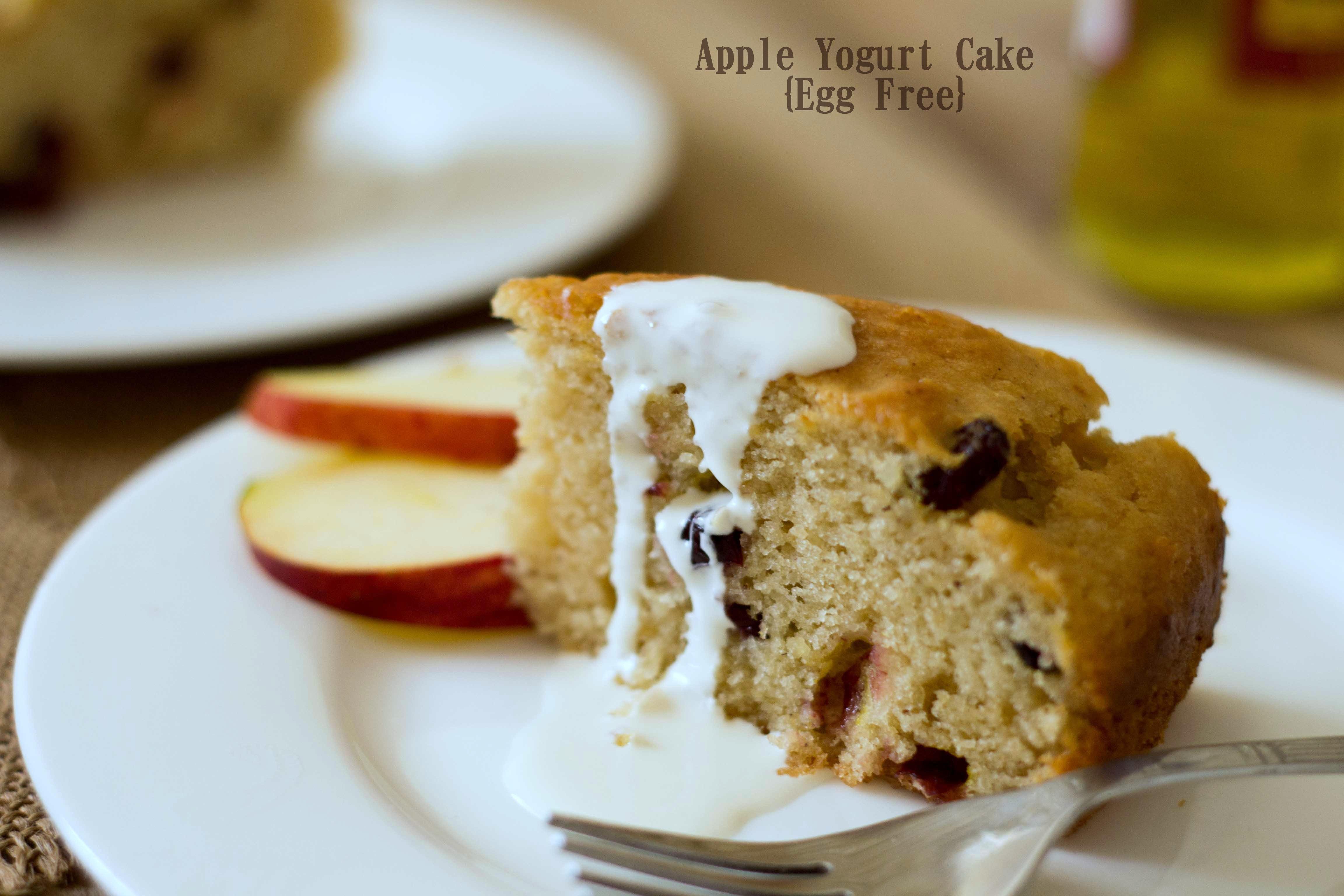 Apple Yogurt Cake {Egg Free} - The White Ramekins