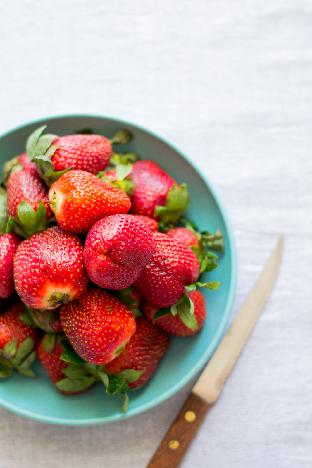 Strawberries On Sponge Cake
