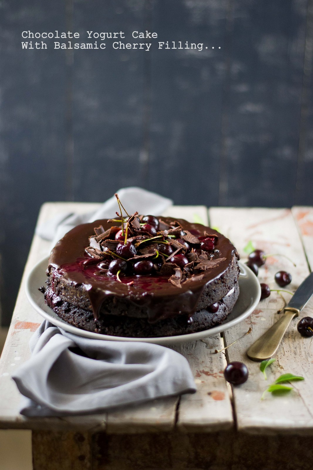 Chocolate Yogurt Cake With Balsamic Cherry Filling - The White ...