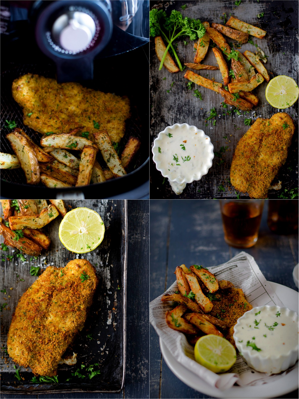 fish chips with tartar sauce the airfryer way the white ramekins. Black Bedroom Furniture Sets. Home Design Ideas