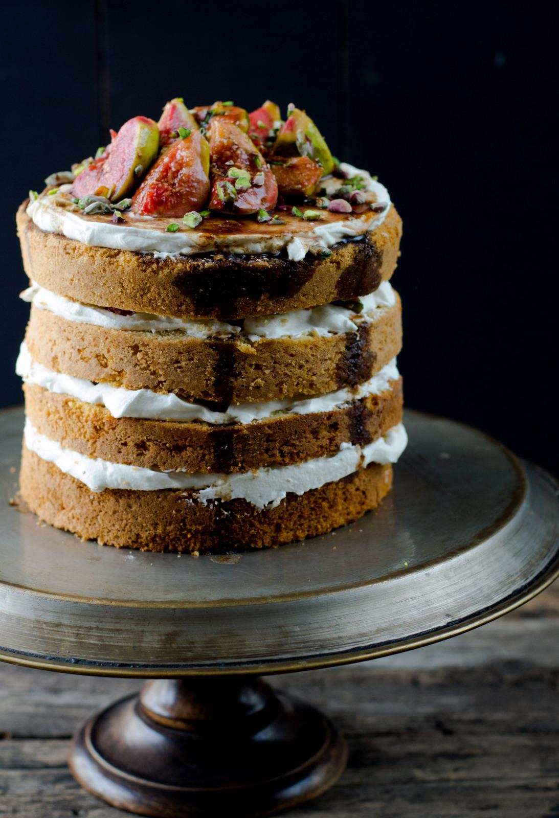 Buttermilk Cake Layered With Mascarpone Amp Orange Balsamic