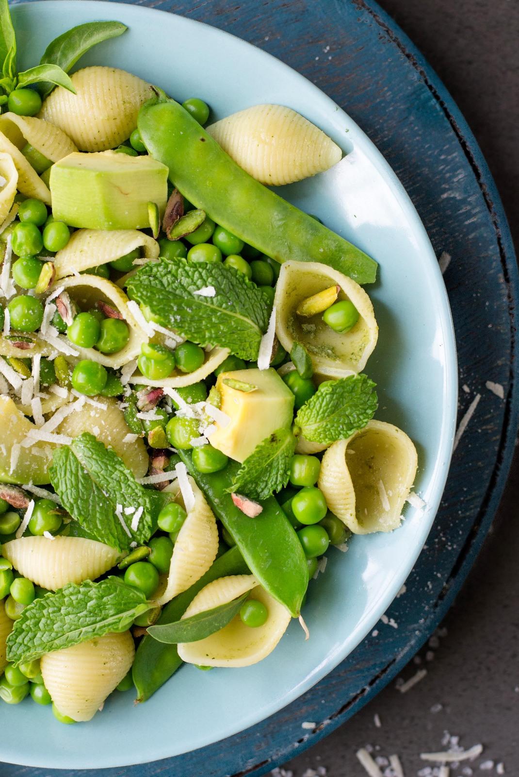 Spring Pasta With Mint & Basil Pesto - The White Ramekins