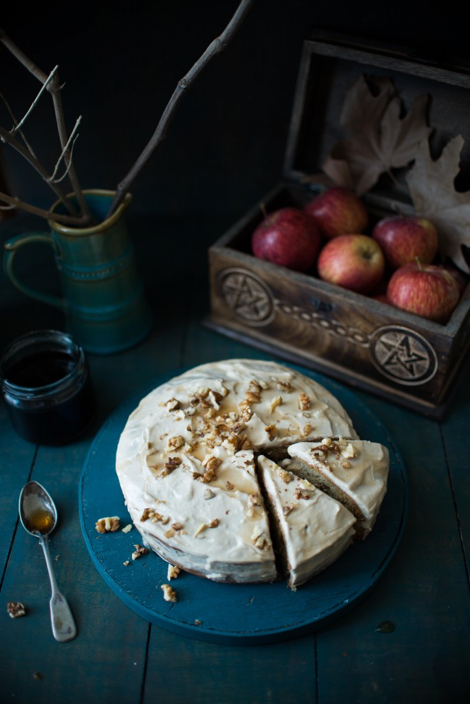 Maple Nut Cake With Icing